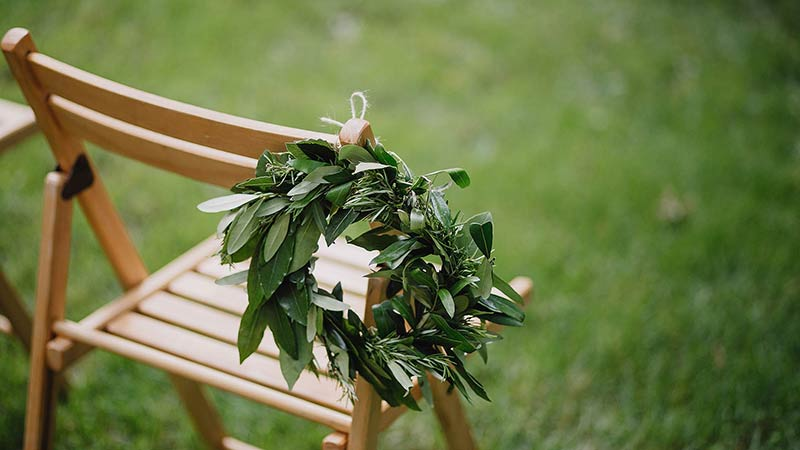 Wreath on a Chair