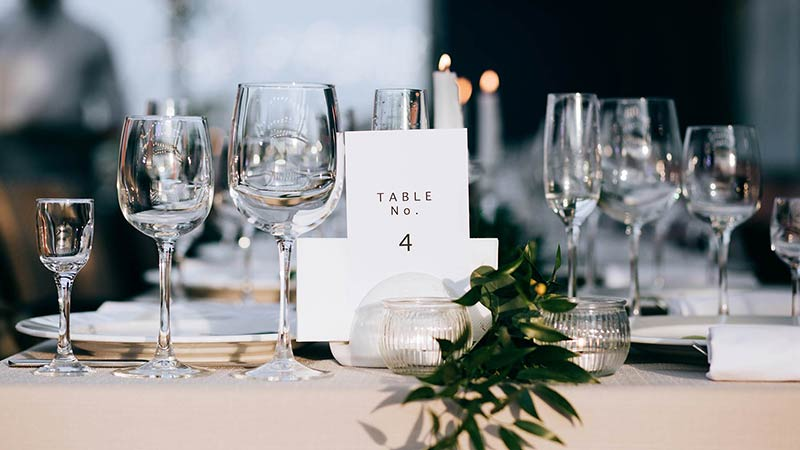 Wedding Table With Table Number Card on It