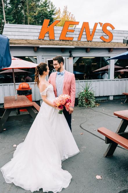 Julia + Josh's Vibrant Fall Wedding